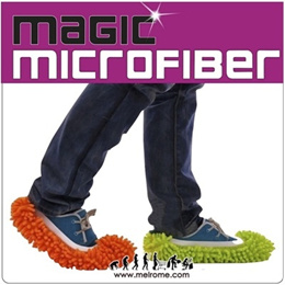 One pair/ 2pcs ★ Multi-Function Microfibre Elastic Cuff Chenille Washable Dust Mop ★ Microfiber Slip-on ★ Mop and Clean the floor while you walk !! [ melrome.com ]