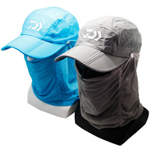 be46ee8f385d6 Quick View Window OpenWishAdd to Cart. rate new. gray blue Fishing hat  hiking outdoor sport visor UV protection Face Neck Massager cover Sun  Fishing