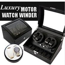 【HOT】Luxury Piano Paint Dual Motor Watch Winder Box/End Mute Motor Watch Winder Self-winding Wood Bo