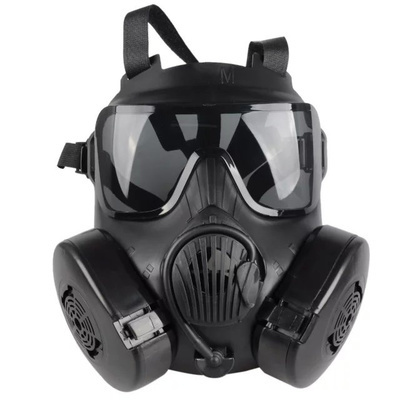 Airsoft M50 Gas Dual Cool Free Full Face Mask Fan Protection Style Fog