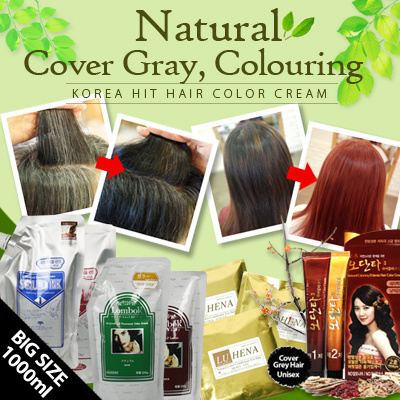 [KOREA HIT] Natural Hair Colouring/Cover gray hair / Makes beautiful hair  color without damage / Dye