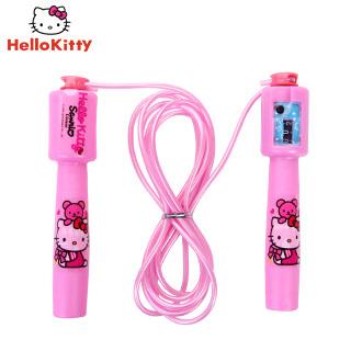 【Hello Kitty官方授權】兒童跳繩 女生螺旋塑料柄 健身運動跳繩 卡通計數跳繩 學校教育用品