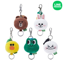 [LINE FRIENDS] LINE FRIENDS PLUSH KEY RING 5cm(FACE)