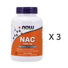 [무료배송] 나우푸드서플먼트 N 아세틸 시스테인 NAC120x3병 0185