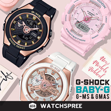 [APPLY 25% OFF COUPON] BABY-G AND G-SHOCK G-MS AND GMAS Watches. MSG400G S SERIES. Free Shipping!