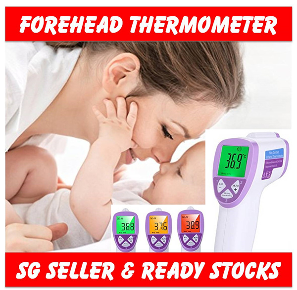 Digital Forehead Thermometer / Non-Contact Instant Read Fever Sensor / No Touch Infrared IR Body Deals for only S$39.9 instead of S$0