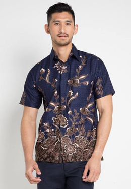 Rianty Batik Hem Regan Dark Blue