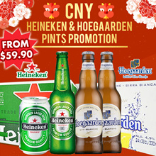 $49.90 after $10 CART COUPON!![CNY BEER PROMOTION] Heineken and Hoegaarden CANS/PINTS [24 x 330ml]