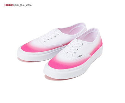 VANSVans VANS Authentic Skate Shoes White Pink Gradation Colorful NEW US Sz  4~ VN-0ZUKFIT d272512c0