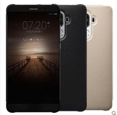 Huawei mate9 mobile phone case mate9 smart leather flip flip-style men and women models panoramic wi