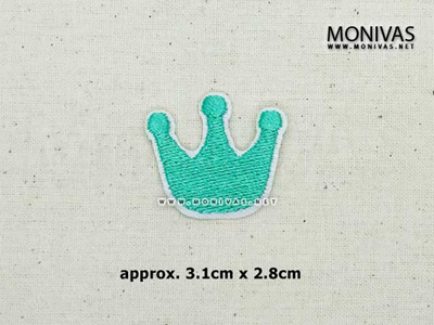 9ac5fc5aa DIY Embroidery Iron On Patch Tiffany Green Crown Motif Fashion Applique  Repairing Badge Stickers