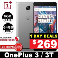 (MAKE $269)Oneplus 3 / 3T / 6GB RAM / 64GB ROM / Snapdragon 821 / Quad Core / 5.5 inch / Refurbished