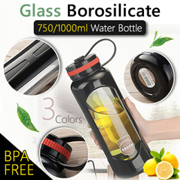 Best Quality / Best Selling Glass Water Bottle/ BPA free borosilicate glass bottle