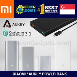 ★100% Authentic XIAOMI/AUKEY★ Mi PowerBank 20000mAh 16000mAh 10000mAh 5000mAh Power Bank Portable