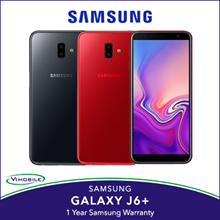 Samsung Galaxy J6+ | 1 year warranty by Samsung | Gray and Red