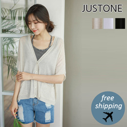 [JUSTONE❤]Overfit linen summer cardigan / Free Shipping / Korean Fashion