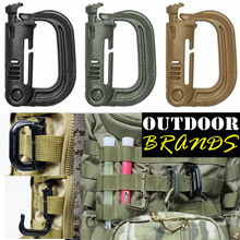 D-Biner Clip / Grimloc Clip - Perfect accessory for Backpacks MOLLE ALICE - ARMY / SOLDIER / CAMPING