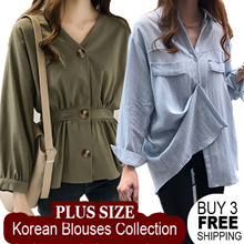 [ Buy 3 FREE SHIPPING !! ] 2018  Wawemon Korea New Style Blouse Dress Blouse Plus Size S-5XL