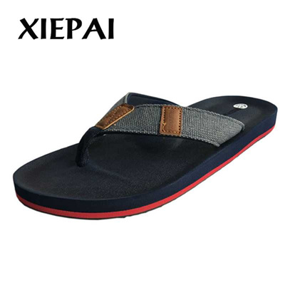 4ff55662065b discount 2019 Breathable Comfortable Men Casual Slippers Flip Flops Size 41-46  Man Summer Shoes