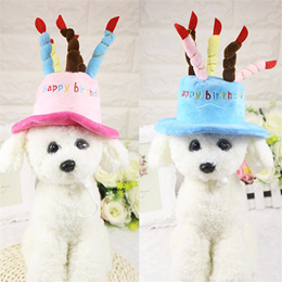 Pet Change Hat Dog Cake Cute Tedibome Birthday Small Candle Fashional Epet