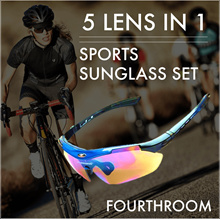 [FourthRoom] 10-in-1 Sports Sunglass Set/ UV400/ Outdoors/ Cycling
