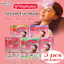 FREE SHIPPING!! KAO MegRhythm Steam Eye Mask **MIX-N-MATCH 5PCS**