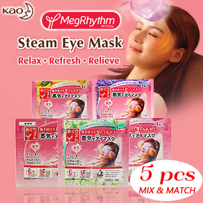 FREE SHIPPING!! KAO MegRhythm Steam Eye Mask Deals for only S$14.5 instead of S$0