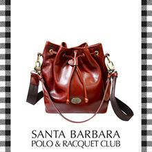 Santa Barbara Polo and Racquet Club Oil Leather Bucket Bag