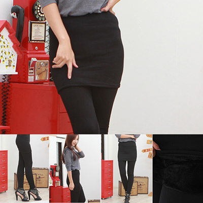 388bd57e3 NEW Full Tights Women Lady Winter Napping Leggings Thick Warm Fleece Lined  Thermal Skirt leggings
