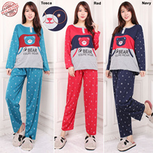 Stelan Baju Tidur Miya dan Celana Panjang Jumbo Wanita
