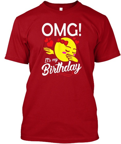Omg Its My Birthday Emoji Dabbing Gift For Kids Girls Hanes Tagless Tee T Shirt