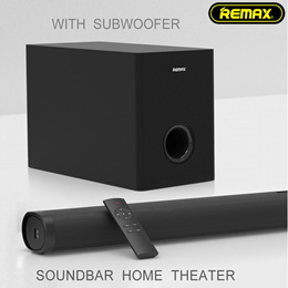 Remax RTS-10 Soundbar | 2.1 Channel Bluetooth Speaker Stereo Sound With Remote Control