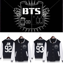 BTS Bangtan Boys baseball uniform Jung Kook jhope jin jimin v suga long sleeve jacket high quality h