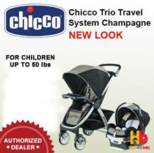 Chicco Bravo Trio Travel System - Champagne