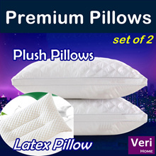 ★Premium Pillows!★【Plush Pillows/Latex Pillow】set of 2! Cheap n good!