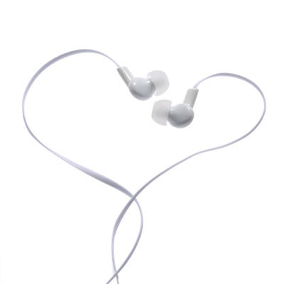 In-ear Binaural Stereo Headset 3.5mm Audio Plug Music Earphone Noise Cancellation Headphone White