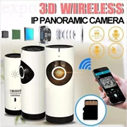 3D Wireless IP Panoramic Camera/ Support Two-Way Voice Intercom /App Remote Control / Surveillance Night Vision Pan / Wireless Security Camera / Easy Installation