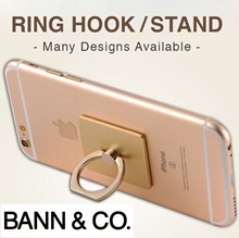 Ring Hook / Phone Holder / Stand - Many Designs / 360 Rotational / Secure Sturdy / Prevent Drops