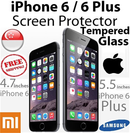 ★HD High Definition★ iPhone 6 / 6s / iPhone 6 Plus / 6S Plus Tempered Glass Screen Protector iPhone 5/5S/4/4S Xiaomi Redmi/1S/Note/Mi3 Screen Protector/Phone Casing Case Cover Local Stock in SG etc