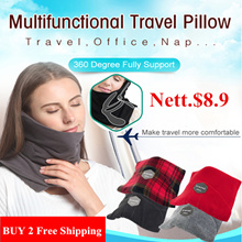 Nett. $6.7★Travel Pillow★ Best for Airplane /Easy to carry /360° Support Protect /Super Soft /Neck P