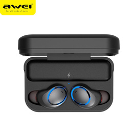 【Original AWEI】T3 Bluetooth Earphones /  Bluetooth V5.0  / IPX4 Waterproof / Charging compartment