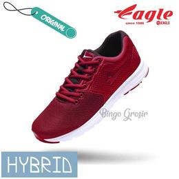 SEPATU EAGLE HYBRID RUNNING - Maroon, 37