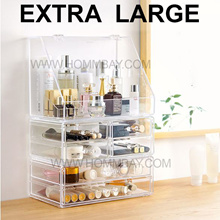 Cosmetic Acrylic Makeup Make up Organizer Organiser Jewellery Storage Box Stackable Cheap