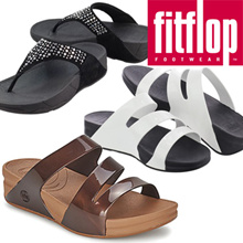 ALL FLAT PRICE/ Last clearance sale★100%AUTHENTIC★[FITFLOP] Novy black Superjelly Twist Bronze/White