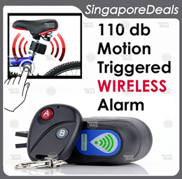 Bicycle/Electric Scooter Wireless Anti Theft Alarm + Remote Control Motion Sensor (Item N4) BA1