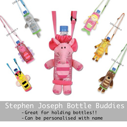 Personalisable Stephen Joseph Bottle Holder Buddy - Various Designs