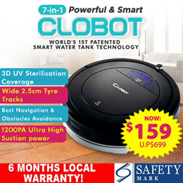 [INTRODUCTORY OFFER!] ★ CLOBOT VACUUM w WATER TANK 7-in-1★ SG AGENT WARRANTY★ NOW $159