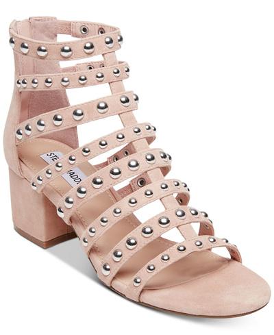 22987056916 Qoo10 - Steve Madden Mania Block Heel Gladiator Sandals   Shoes