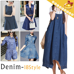 987138ea84f4d COUPON · Lady Fashion◇Plus Size Stylish Denim Dress◇Suspender/Onepiece/Daily  Dress/