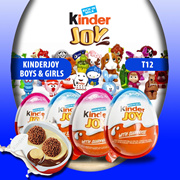 KINDER JOY T12 - HEALTHY SNACKS AND FUN FOR CHILDREN (12X20GRAM) FOR BOYS AND GIRLS EDITION